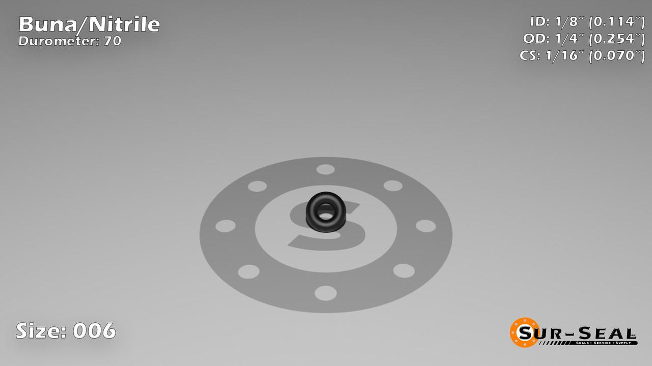3 St. O-Ring Nullring Rundring 106,0 x 5,0 mm NBR 70 Shore A schwarz//black