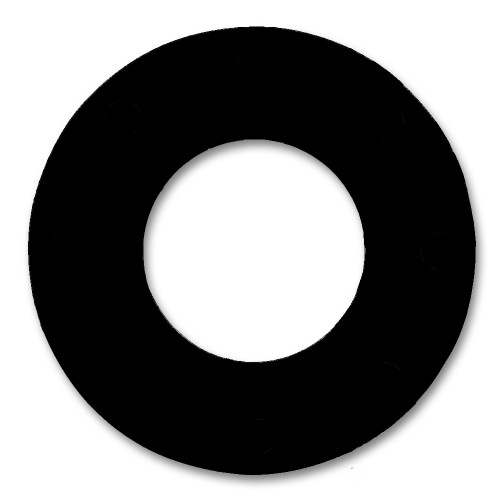 """7106 Neoprene Rubber 60 Durometer Ring Gasket 1/2"""" Pipe Size,  1/16"""" Thick, Pressure Class 150# (Min Qty: 20)"""