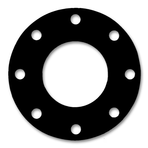7157 EPDM 60 Durometer Full Face Gasket For Pipe Size: 6(6) Inches (15.24Cm), Thickness: 1/32(0.03125) Inches (0.079375Cm), Pressure: 300# (psi). Part Number: CFF7157.600.031.300
