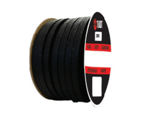 Teadit Style 2255 Synthetic Yarn with Graphite, Lubricated Packing,  Width: 1/4 (0.25) Inches (6.35mm), Quantity by Weight: 5 lb. (2.25Kg.) Spool, Part Number: 2255.250x5