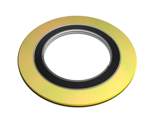 "316 Spiral Wound Gasket, 316LSS Windings, with Flexible Graphite Filler, For 1/2"" Pipe, Pressure Tolerance, 600#, Green Band with Grey Stripes Part Number: 9000.500316GR600"