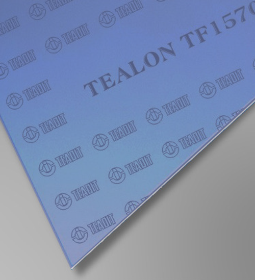 Teadit Style TF1570 Blue structured PTFE Tealon Sheet, Dimensions: Length: 62 Inches (157.48Cm), Width: 62 Inches (157.48Cm), Thickness: 1/16(0.0625) Inches (0.15875Cm) Part Number: TF1570.06262X62
