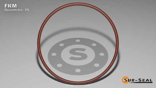 O-Ring, Brown Viton/FKM Size: 106, Durometer: 75 Nominal Dimensions: Inner Diameter: 4/23(0.174) Inches (4.42mm), Outer Diameter: 19/50(0.38) Inches (0.38mm), Cross Section: 7/68(0.103) Inches (2.62mm) Part Number: OR75BRNVI106