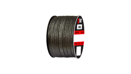 Teadit Style 2002 Carbon Yarn, Graphite Filled Packing,  Width: 1/4 (0.25) Inches (6.35mm), Quantity by Weight: 25 lb. (11.25Kg.) Spool, Part Number: 2002.250x25