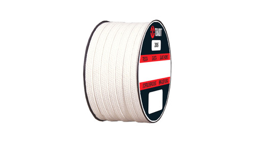 Teadit Style 2005 Braided Packing, PTFE Yarn, Dry Packing,  Width: 1/4 (0.25) Inches (6.35mm), Quantity by Weight: 5 lb. (2.25Kg.) Spool, Part Number: 2005.250x5