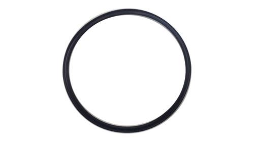 Quad Ring, Black Viton/FKM Size: 437, Durometer: 75 Nominal Dimensions: Inner Diameter: 5 39/40(5.975) Inches (15.1765Cm), Outer Diameter: 6 21/40(6.525) Inches (16.5735Cm), Cross Section: 11/40(0.275) Inches (6.99mm) Part Number: XP75VIT437