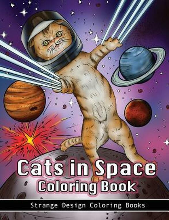 Cats in Space Coloring Book