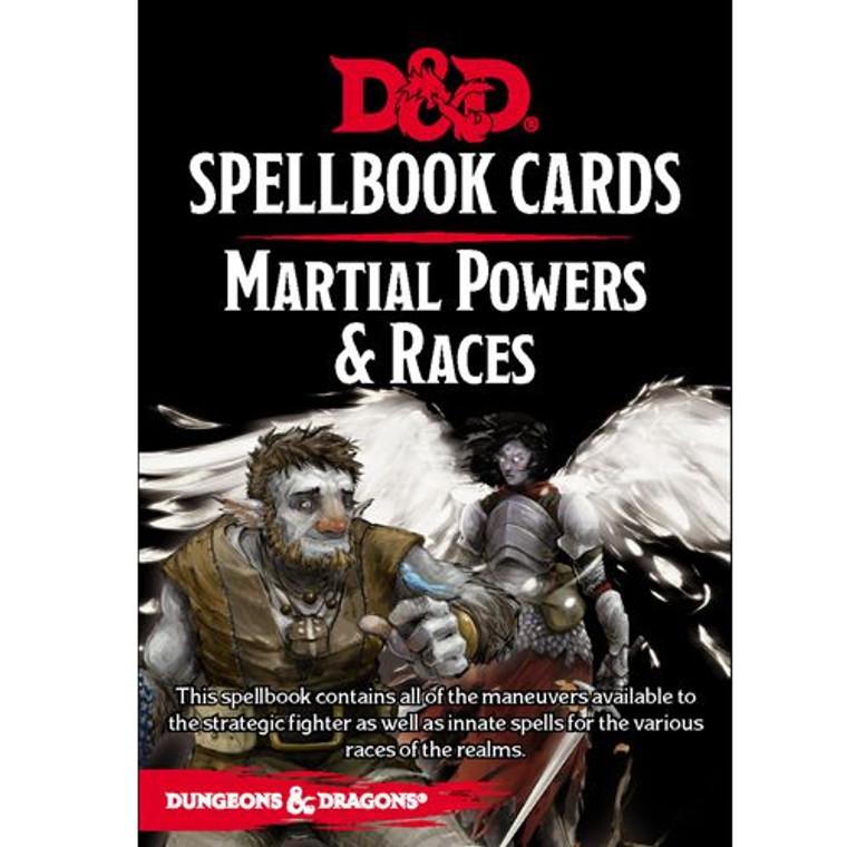 D&D 5E Spellbook Cards Martial Powers & Races