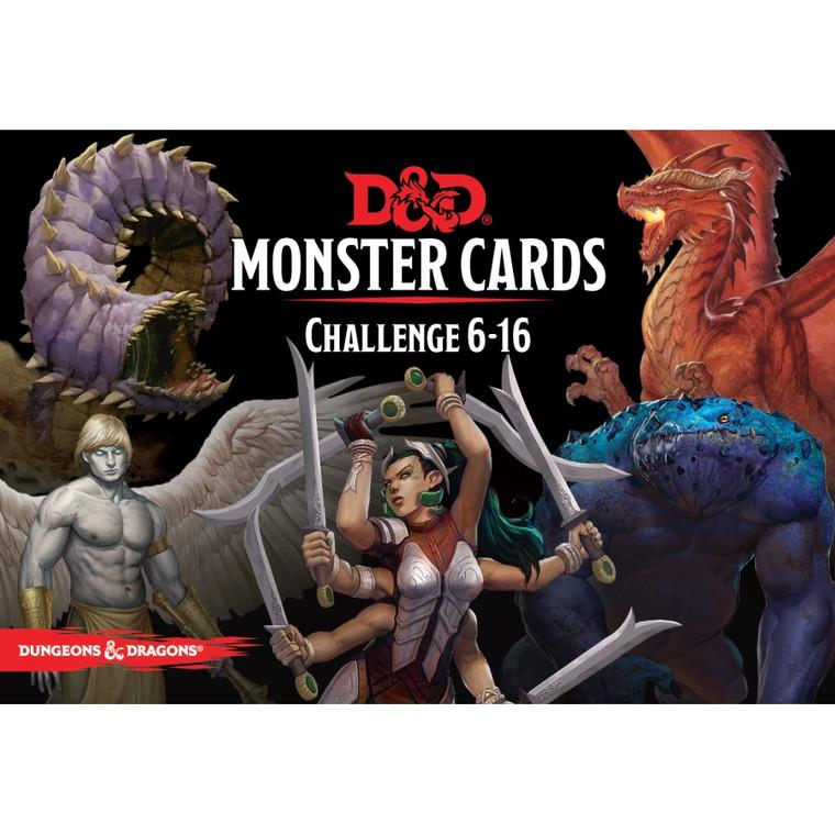 D&D 5E Monster Cards Challenge 6-16