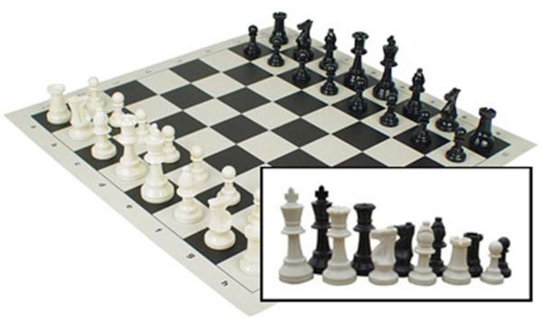 """Chess 17"""" Vinyl Rollup With Handle"""