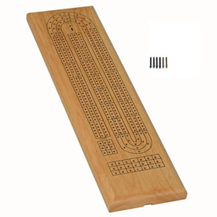 Cribbage 3-Track w/Metal Pegs