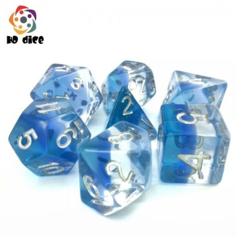 RCG Poly Blue Transparent Gradients (Silver)