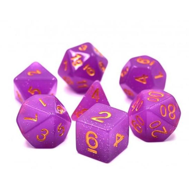 RCG Poly Purple Translucent Glitter (Gold)
