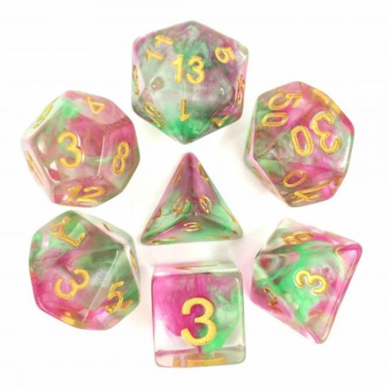 RCG Poly Rose Red Green Pearl Swirl (Gold)