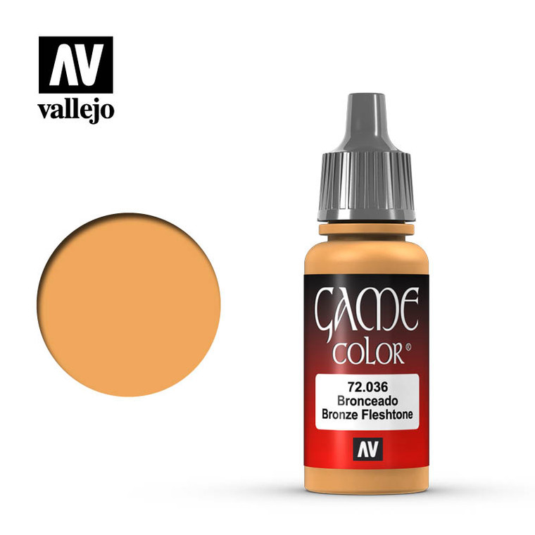 Vallejo Game Color Bronze Flesh Tone Paint 72036