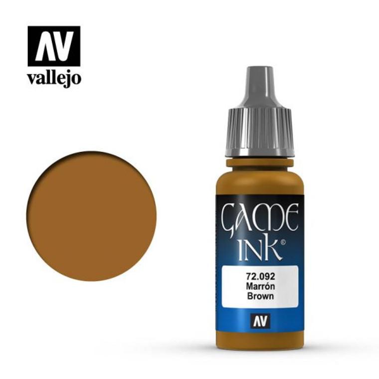 Vallejo Game Ink Brown 72092