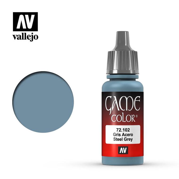 Vallejo Game Color Steel Grey Paint 72102