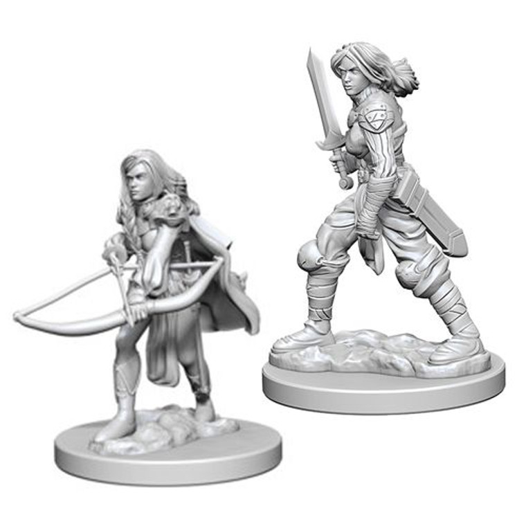 Unpainted PC Human Fighter Female 72597