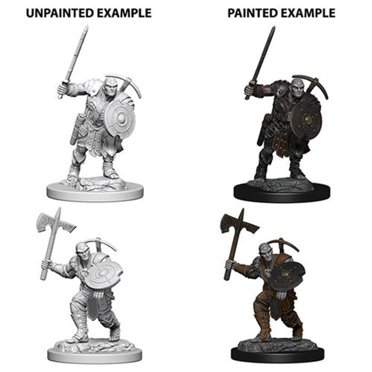 Unpainted PC Genasi Earth Fighter Male NM 73203