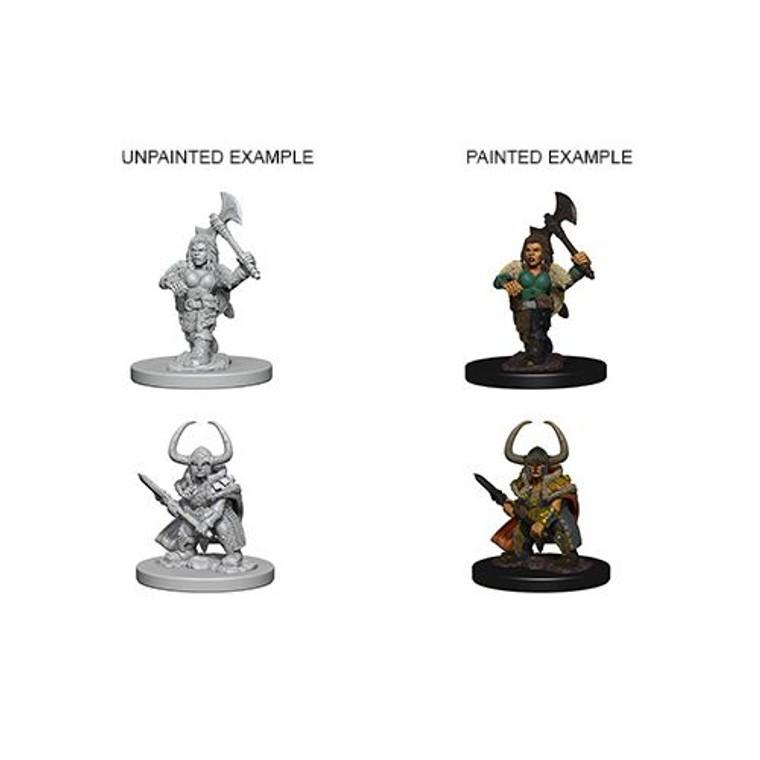 Unpainted PC Dwarf Barbarian Female NM 72645