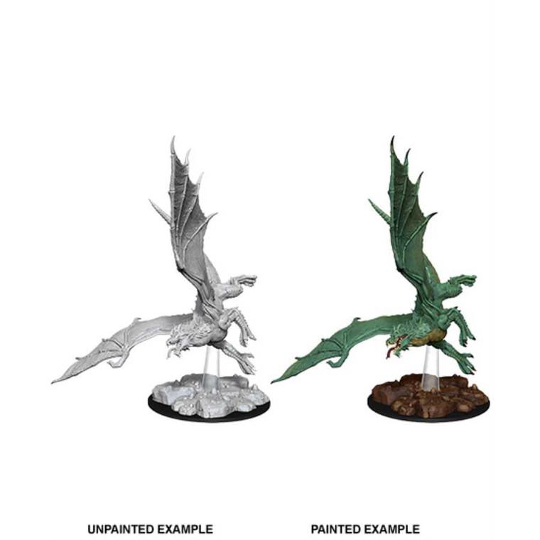 Unpainted NPC Dragon, Young Green NM 73684