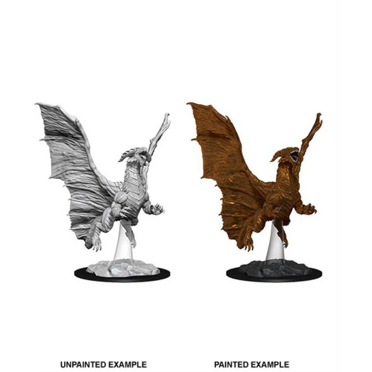 Unpainted NPC Dragon, Young Copper NM 73685