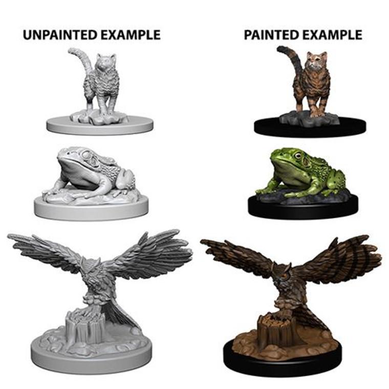 Unpainted NPC Familiars DC Paizo Cat/Owl/Toad 73094