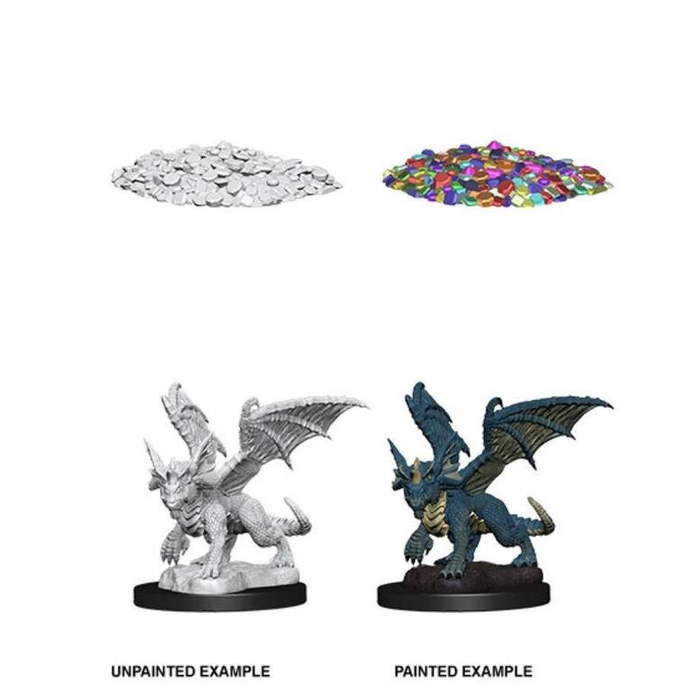 Unpainted NPC Dragon, Wyrmling Blue NM 73852