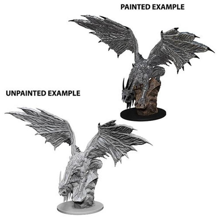 Unpainted NPC Dragon, Silver DC 73186