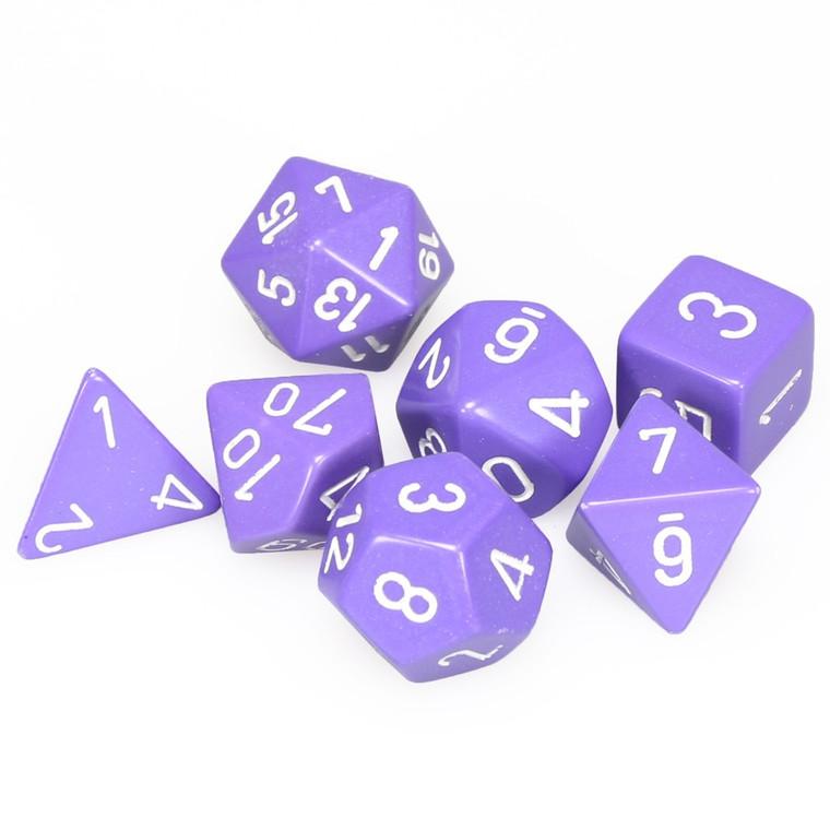 CHX Polyhedral Opaque Purple w/ White 25407