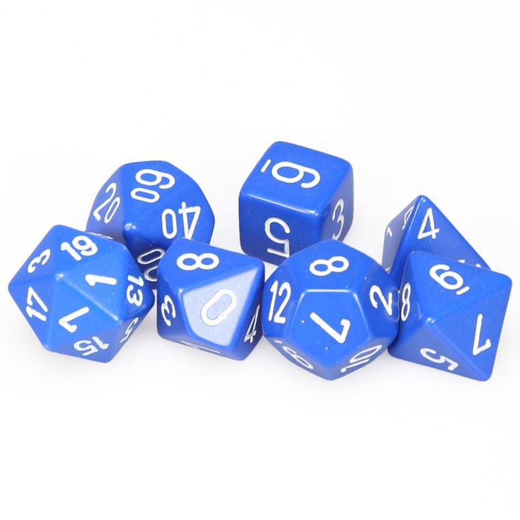 CHX Polyhedral Opaque Blue w/ White 25406