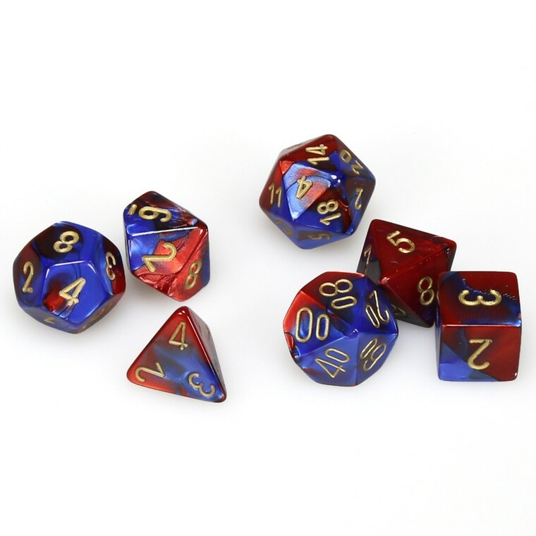 CHX Polyhedral Gemini Blue-Red w/ Gold 26429