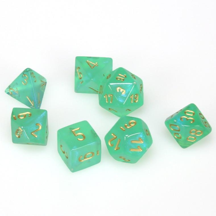 CHX Polyhedral Borealis Light Green w/ Gold