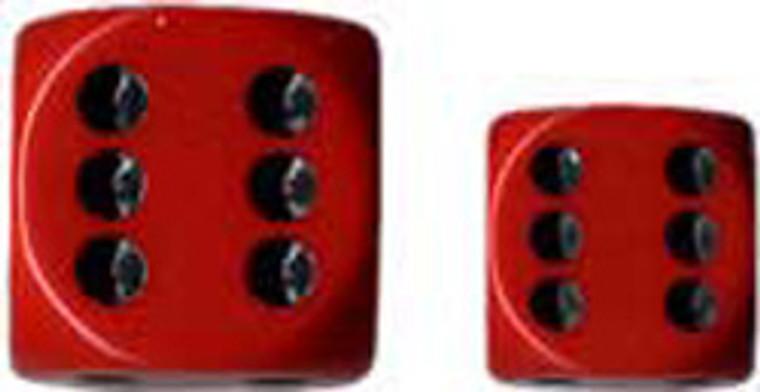 CHX D6 16mm 12x Opaque Red w/ Black 25614
