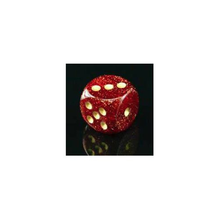 CHX D6 12mm 36 Glitter Ruby w/ Gold 27904
