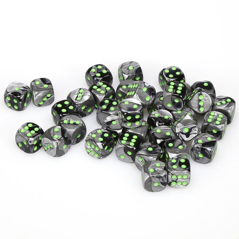 CHX D6 12mm 36 Gemini Black-Grey w/ Green 26845