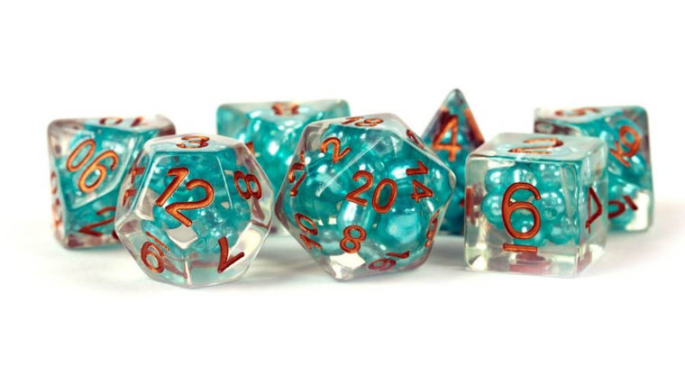 MD Poly 16mm Pearl Teal with Copper