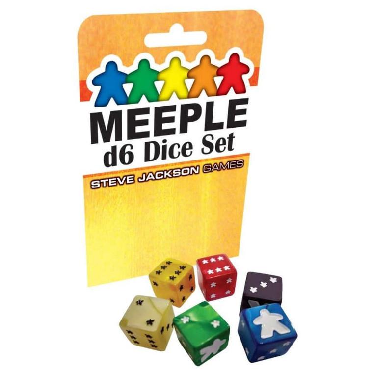 Meeple D6 Dice Set Black