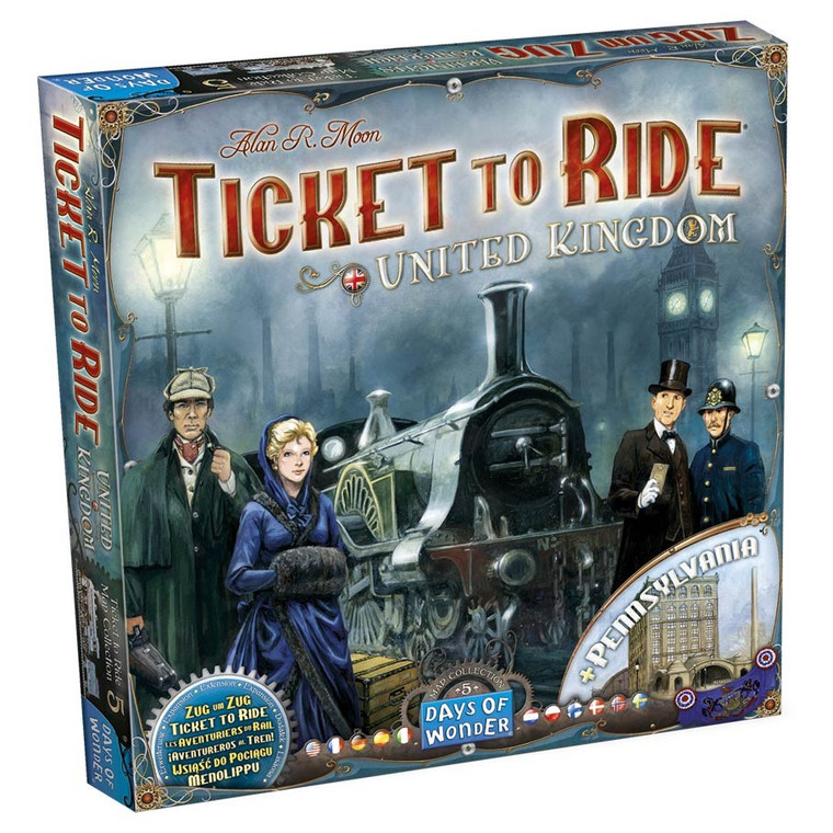 Ticket to Ride Map Collection 5 United Kingdom + Pennsylvania