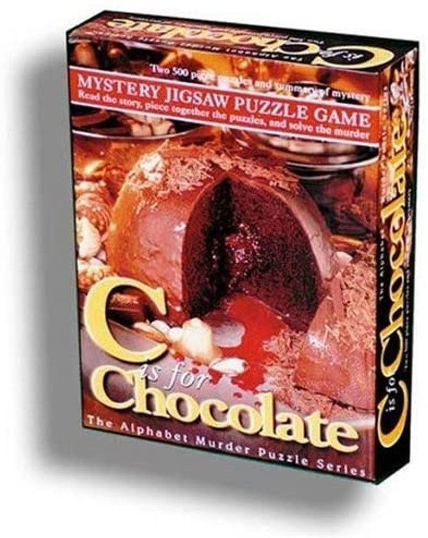 Murder Mystery Jigsaw Puzzle C is for Chocolate