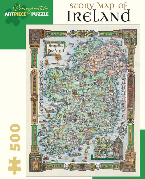 500 Pc Story Map of Ireland