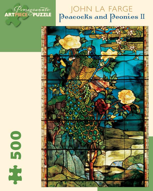 500 Pc La Farge, John: Peacocks & Peonies II