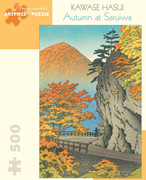 500 Pc Hasui, Kawase: Autumn at Saruiwa