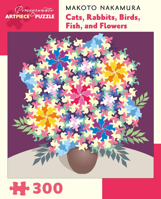 300 Pc Nakamura, Makoto: Cats Rabbits Birds Fish and Flowers