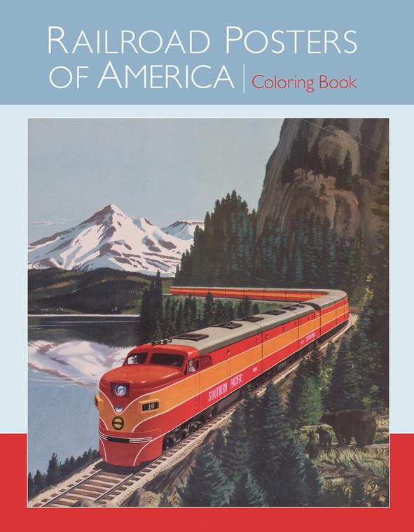 Railroad Posters Coloring Book