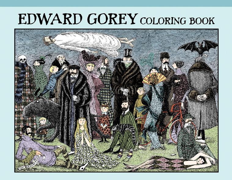 Edward Gorey Hardback Coloring Book