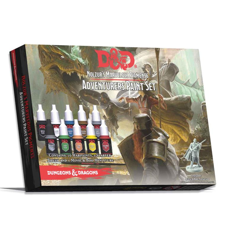 D&D Adventurer's Paint Set Nolzur's Marvelous Pigments Adventurers Paint Set