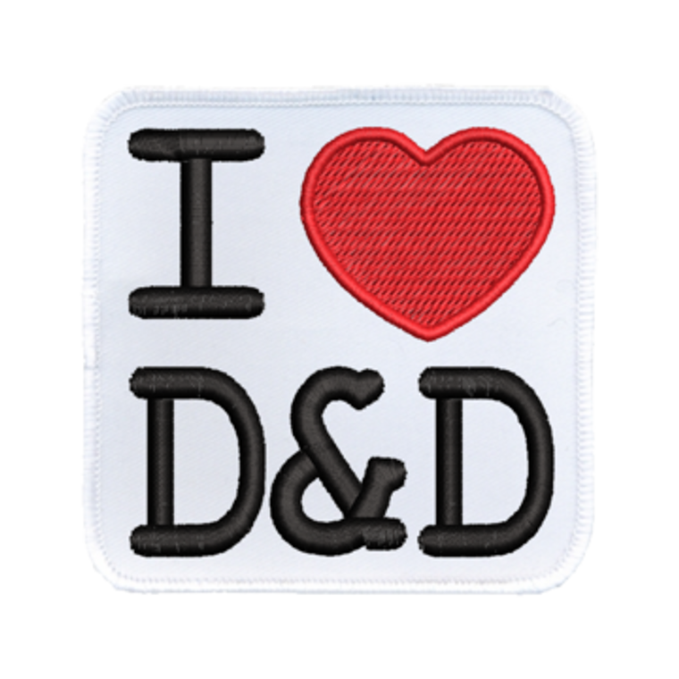 Iron-On Patch - I Heart D&D