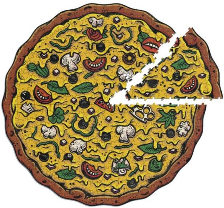 550 Pc Pizza Puzzles Veggie Supreme
