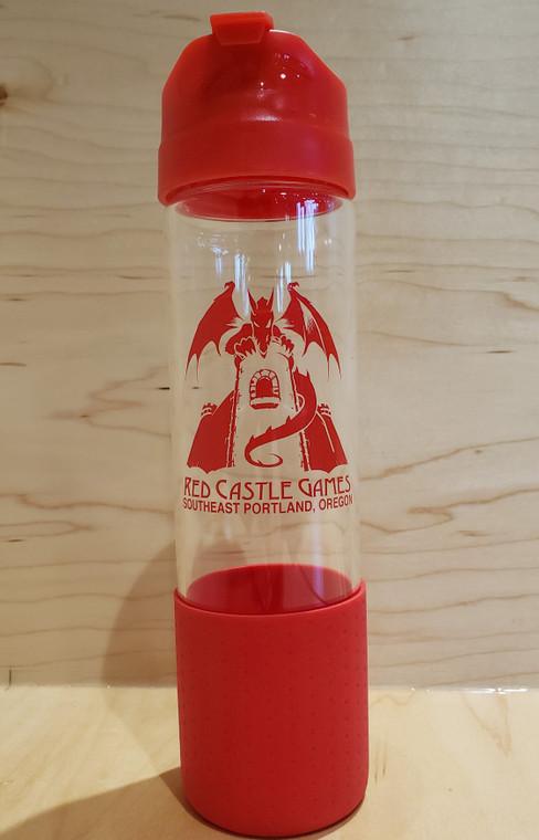 RCG 18 oz Glass Bottle h2go